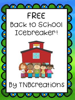 Back to School FREE Icebreaker