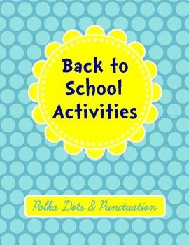 Back to School Activities Packet