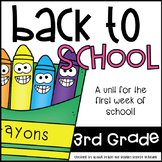 Back to School 3rd Grade