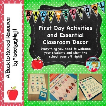 Back to School Activities, Classroom Jobs, and Teacher Res