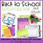 Back to School Activities for 3rd Grade