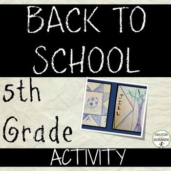 5th Grade Back to School Activity: Activities for back to
