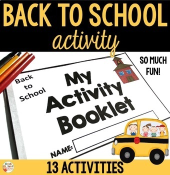Back to School Activity Booklet
