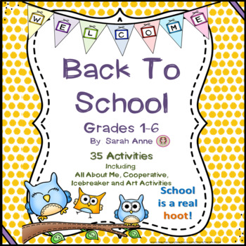 Back to School Activity Bundle - 35 Activities and Games {