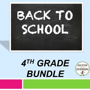 Back to school Activities for 4th Grade Back to School Act