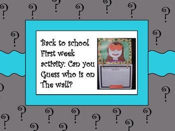September activity - get to know your students! Great for