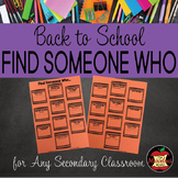 Back to School Activity-Find Someone Who