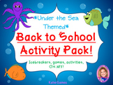 Back to School Activity Pack- SEA LIFE THEMED