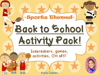 Back to School Activity Pack- SPORTS THEMED