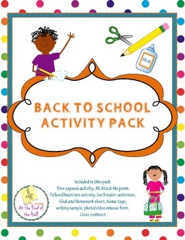 Back to School Activity Packet