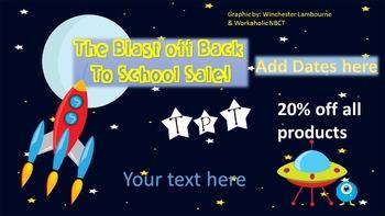 Back to School SALE  Ad {Editable}