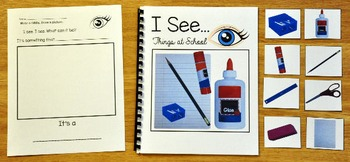 "Back to School Adapted Book-""I See"" Things at School"