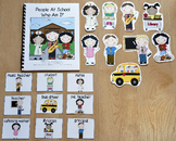 """Back to School Adapted Book--""""People At School, Who Am I?"""