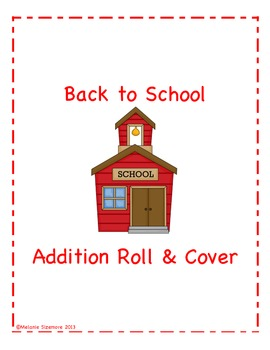 Back to School Addition Roll and Cover