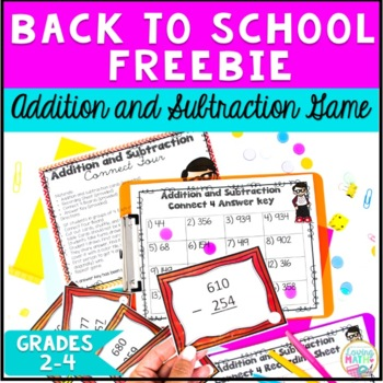 Back to School Addition and Subtraction Math Game {FREEBIE} by Loving Math