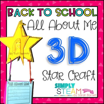 Back to School All About Me 3D Star Craft for Growth Mindset