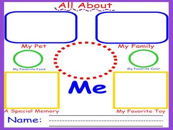 First Day Back to School Activity - Kindergarten, First or