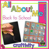 Back to School - All About Me Craftivity - Upside Down Bottles