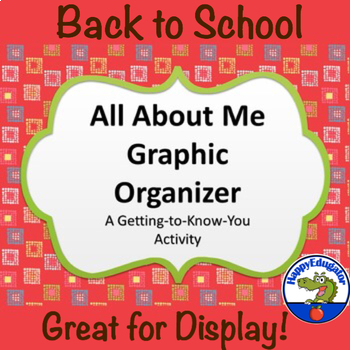 Back to School All About Me Graphic Organizer - A Getting-