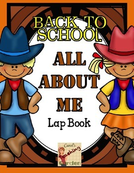 Back to School All About Me Lap Book with a Western Theme