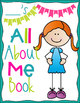 Back to School All About Me Student Booklet