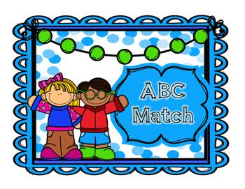 Back to School Alphabet Match Center Kindergarten