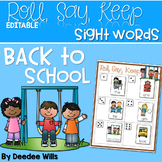 Back to School Alphabet Roll, Say, Keep ~ editable