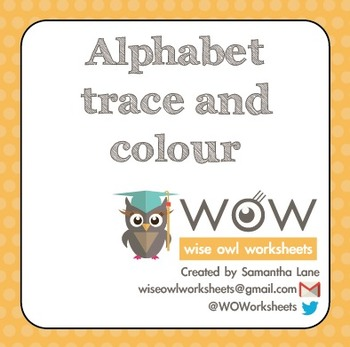 Back to School - Alphabet: Trace and colour
