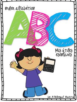 Alphabetical Order - School Supplies (Spanish)