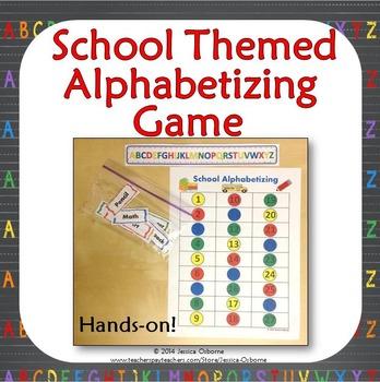 Back to School Alphabetizing Game