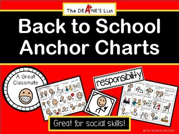 Back to School Anchor Charts
