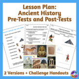 Back to School Ancient History Pre-Test Lesson Plan
