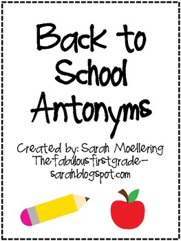 Back to School Antonyms
