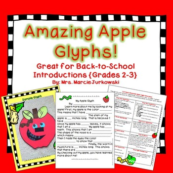Back to School Apple Craftivity Glyph Writing Introduction