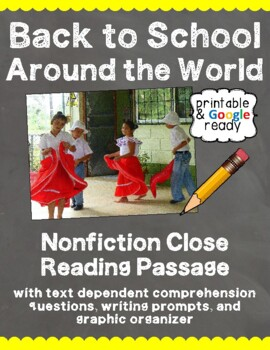 Back to School Around the World: Nonfiction Close Reading Pack
