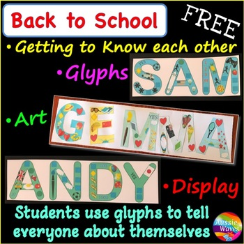 Back to School Art Idea for First Week Display - Getting t