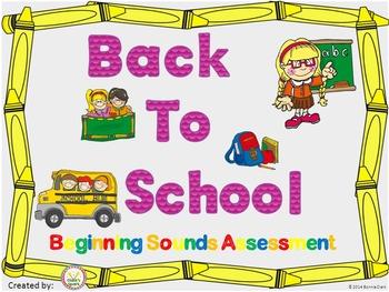 Back to School Assessment Bundle