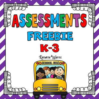 Assessments Freebie by Kathryn Watts