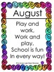 Back to School - August Activity Bingo