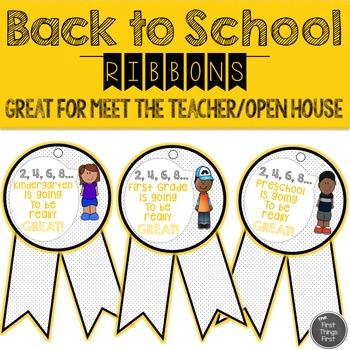 Back to School Ribbons {Open House/Meet The Teacher}