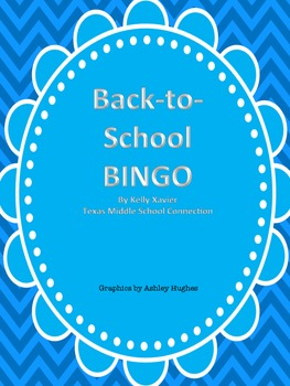 Back-to-School BINGO Blue Chevron