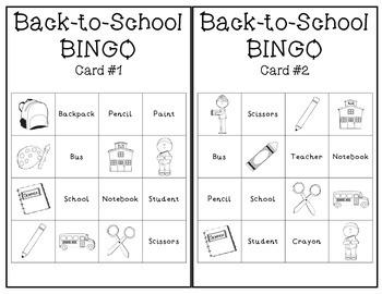 Back-to-School BINGO Game Set *FREEBIE*