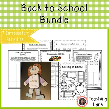 All About Me Activities BUNDLE