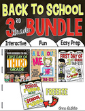 Back to School BUNDLE 3rd Grade