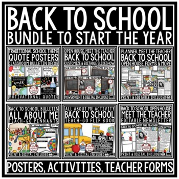 Back to School BUNDLE  [Meet the Teacher Newsletter & Open House]
