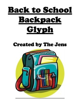 Back to School Backpack Glyph