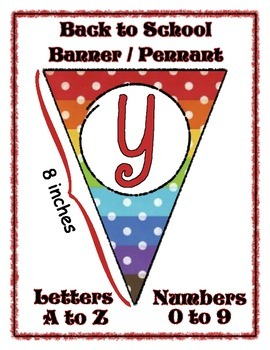 Back to School Banner Pennant Set - Entire Alphabet & Numb