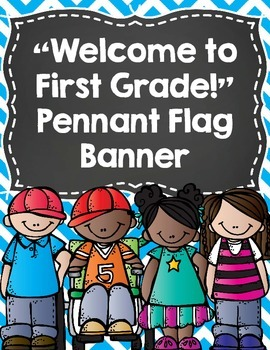 """Back to School Banner- """"Welcome to First Grade!""""- Bright C"""