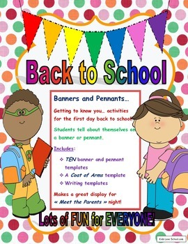 Back to School-Banners and Pennants Getting to Know You Ac