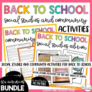Back to School Beginning of the Year Activities: Community